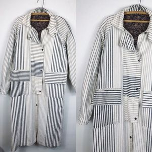 Vintage • 80s Striped Duster Coat